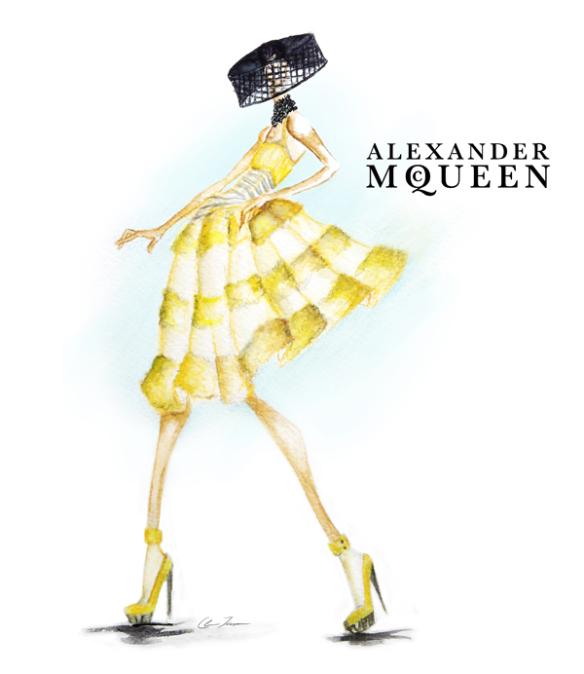 Mcqueen Fashion Sketches Fashion Mcqueen Couture Sketch