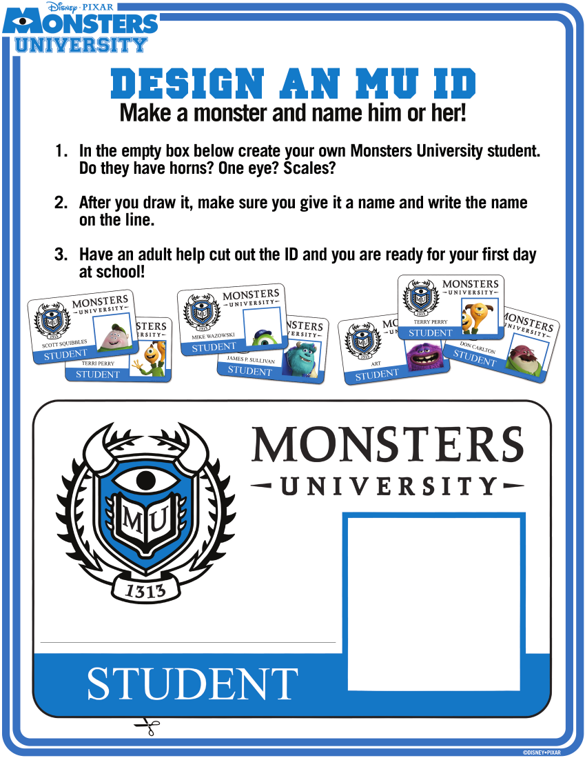 monsters university logo coloring pages - photo#20