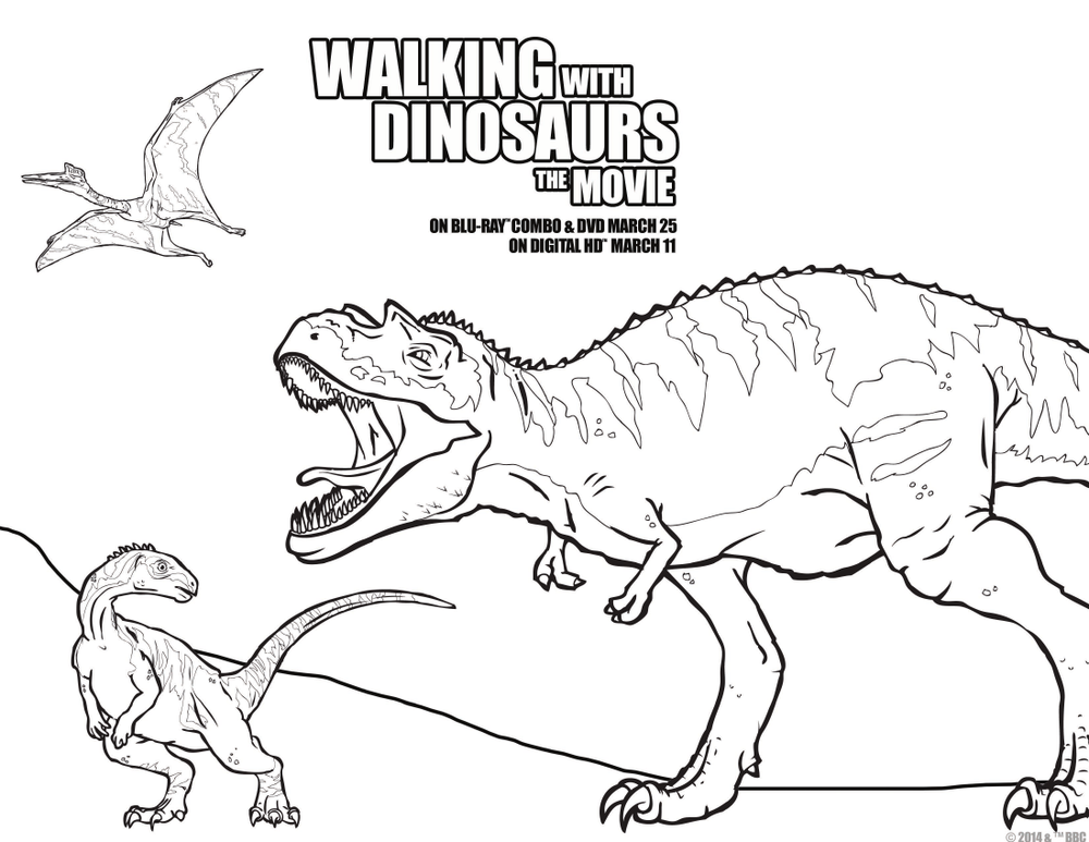 walking with dinosaurs coloring pages - photo #46