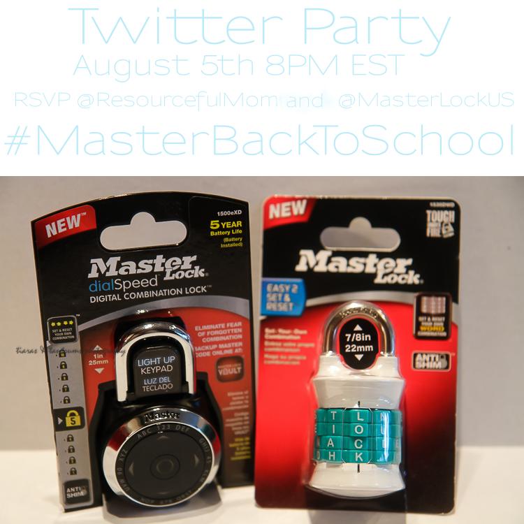 Master Lock #MasterBackToSchool Twitter Party