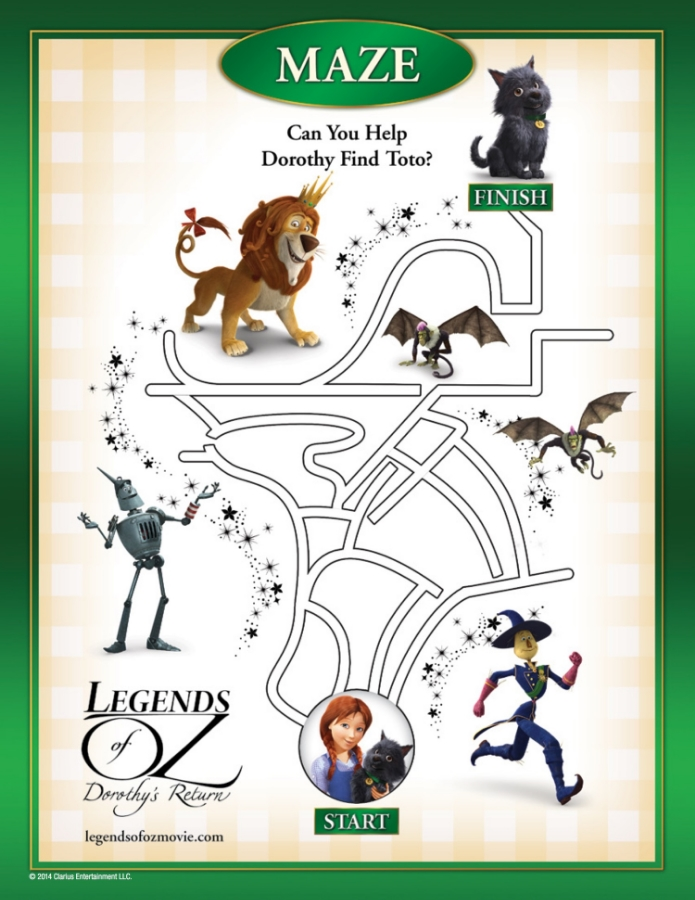 FREE Legends of Oz: Dorothy's Return Printable Activity Sheets