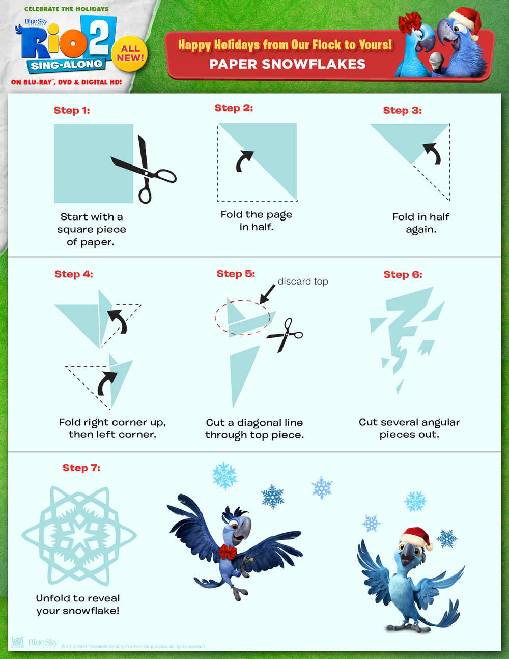 Rio 2 holiday activity sheets
