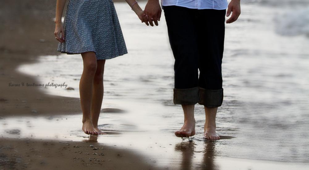 Glencoe Beach Engagement Photography