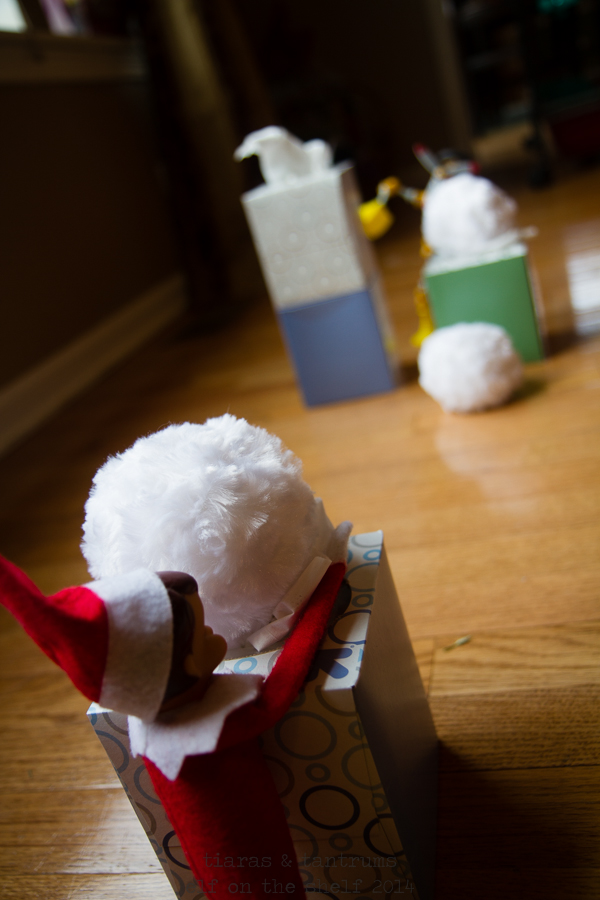Operation Tradition: Magic Snowball Fight with Elf on the Shelf & Hallmark