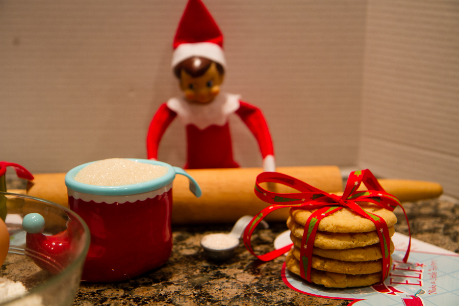 Operation Tradition: Baking with Elf on the Shelf & Hallmark