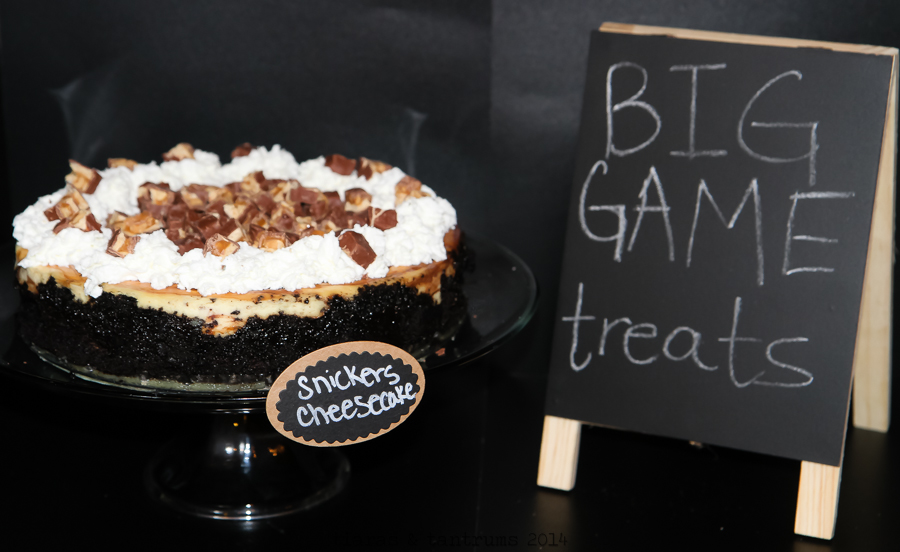Game Day Snickers Cheesecake Recipe #BigGameTreats