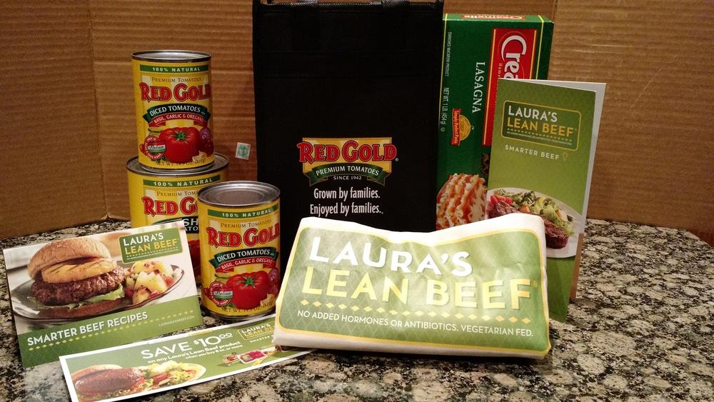 Red Gold Skinny Lasagna {Giveaway} #LaurasLeanBeef