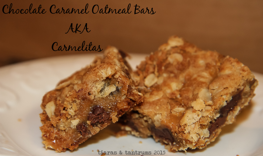 Chocolate Caramel Oatmeal Bars aka Carmelitas