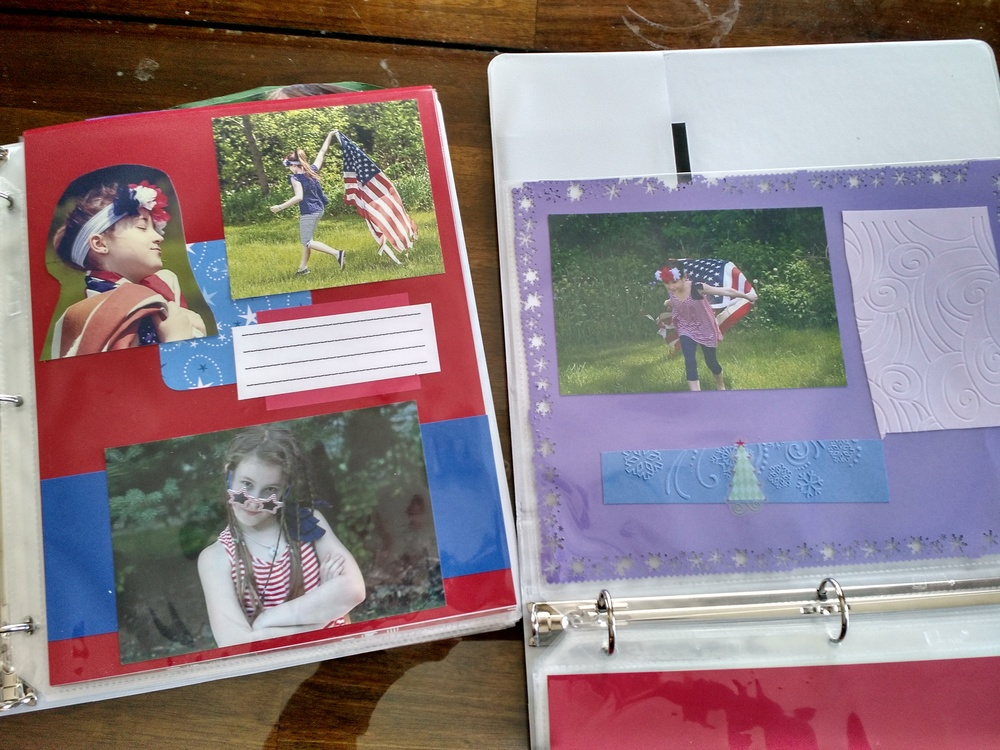 Scrapbooking pages for kids