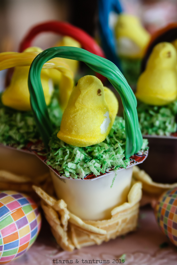 Easter Basket Snack Pack Pudding Cups #SnackPackMixins