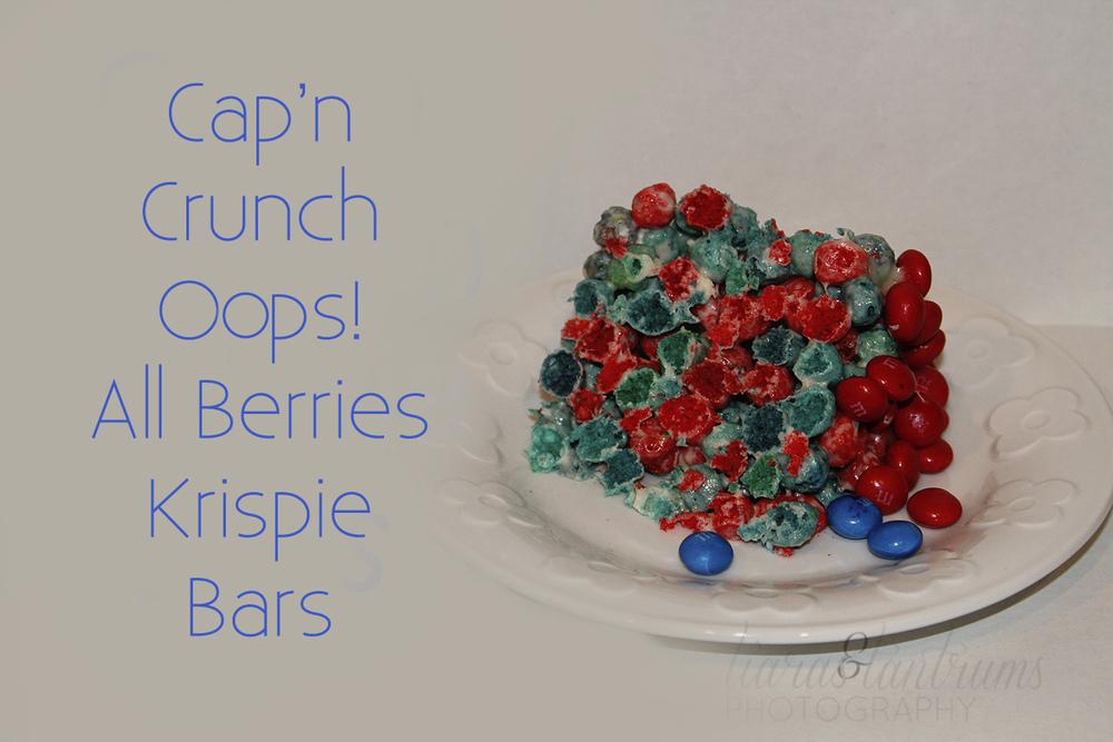 Cap'n Crunch Oops! All Berries Krispie Bars Recipe