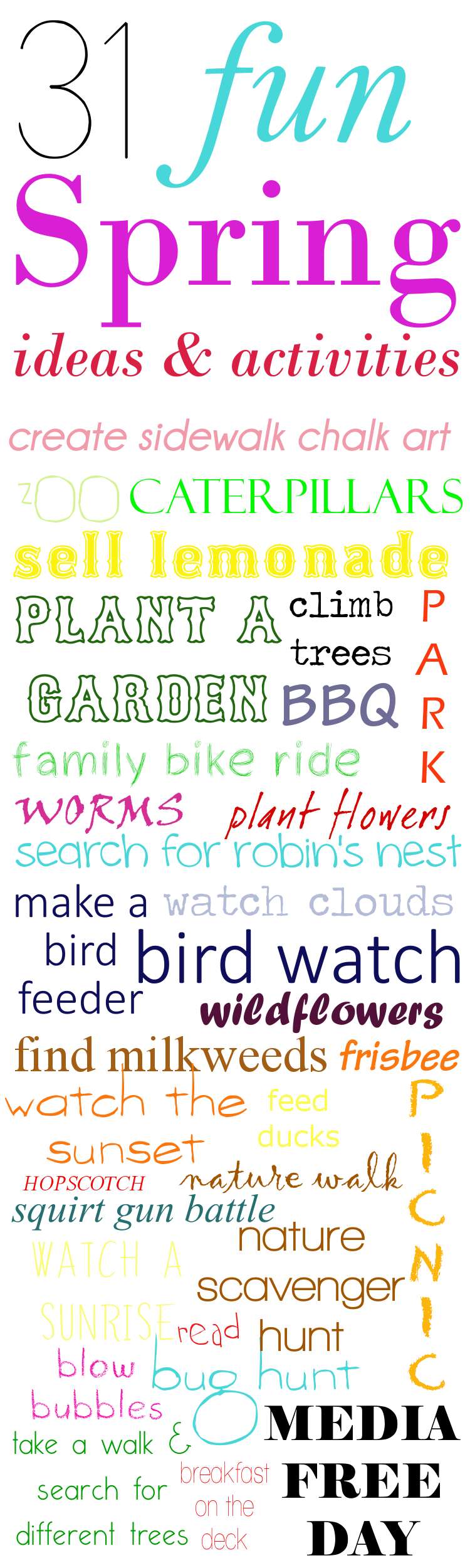 31 Activities to Keep Your Kids Active This Spring