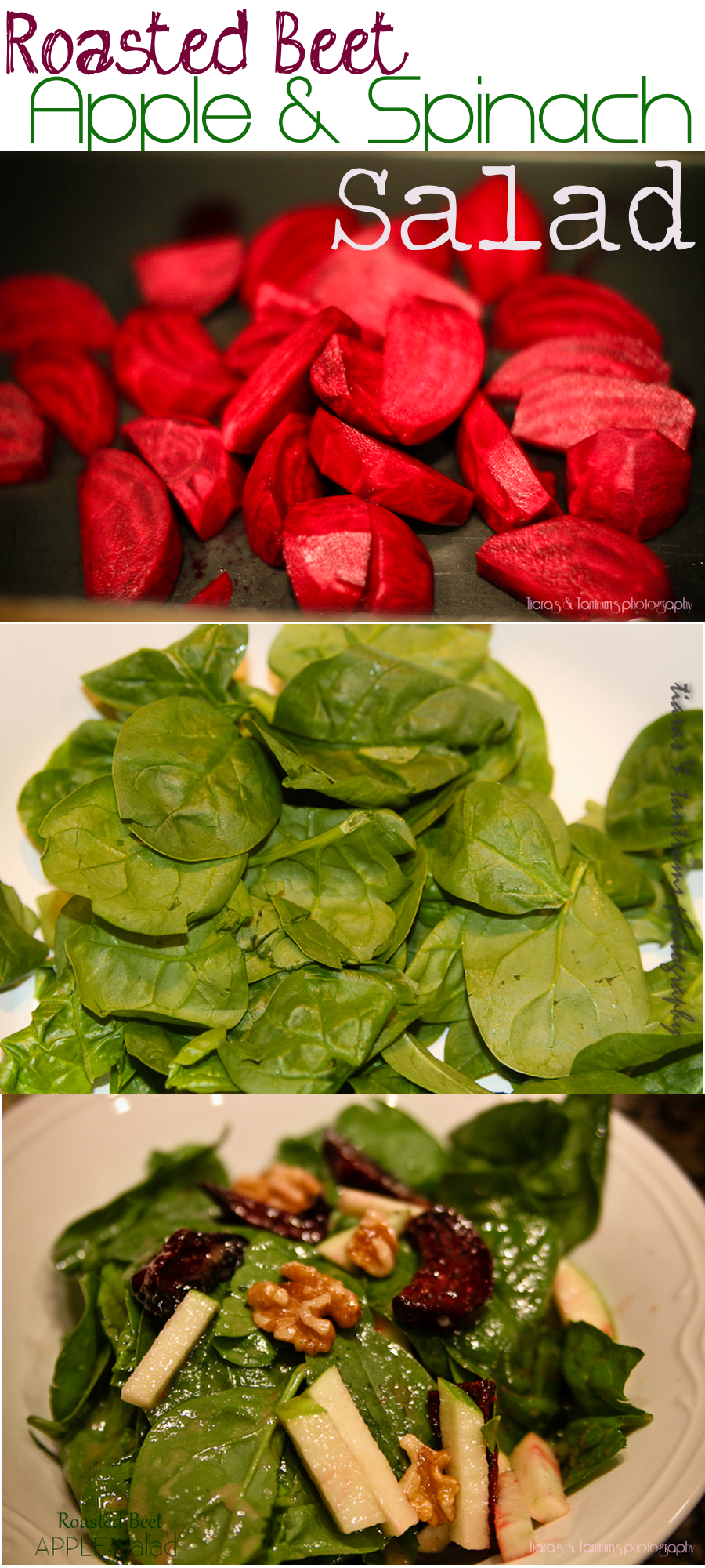 Roasted Beet Apple & Spinach Salad Recipe