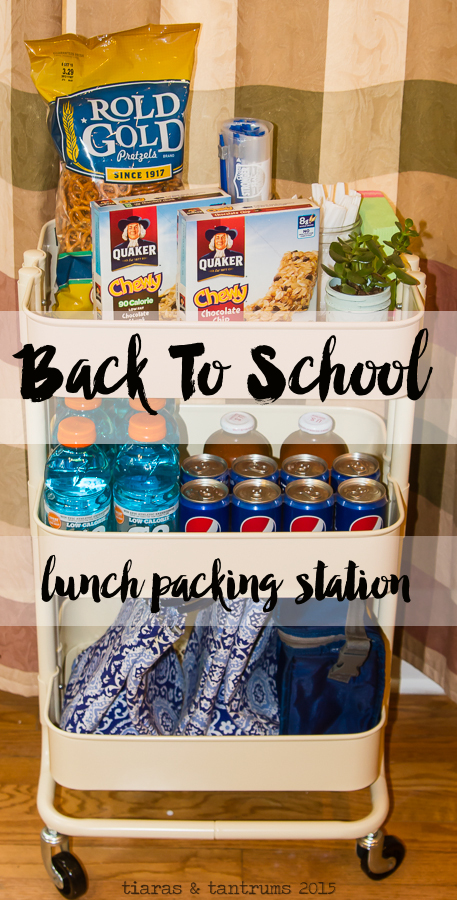 Back To School Lunch Packing Station #BackToSchool