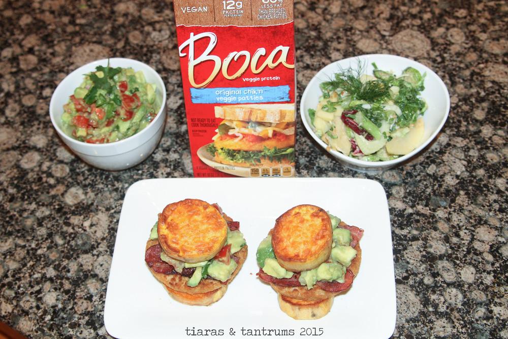 Chicken Sweet Potato Burger with Guacamole {Recipe} #SmarterTreats