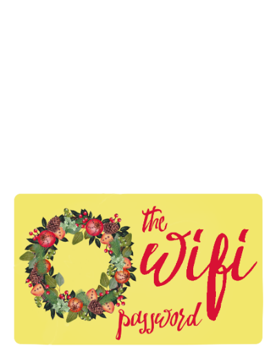 Printable Wifi Password Card for Guests #PreparedWithCVS