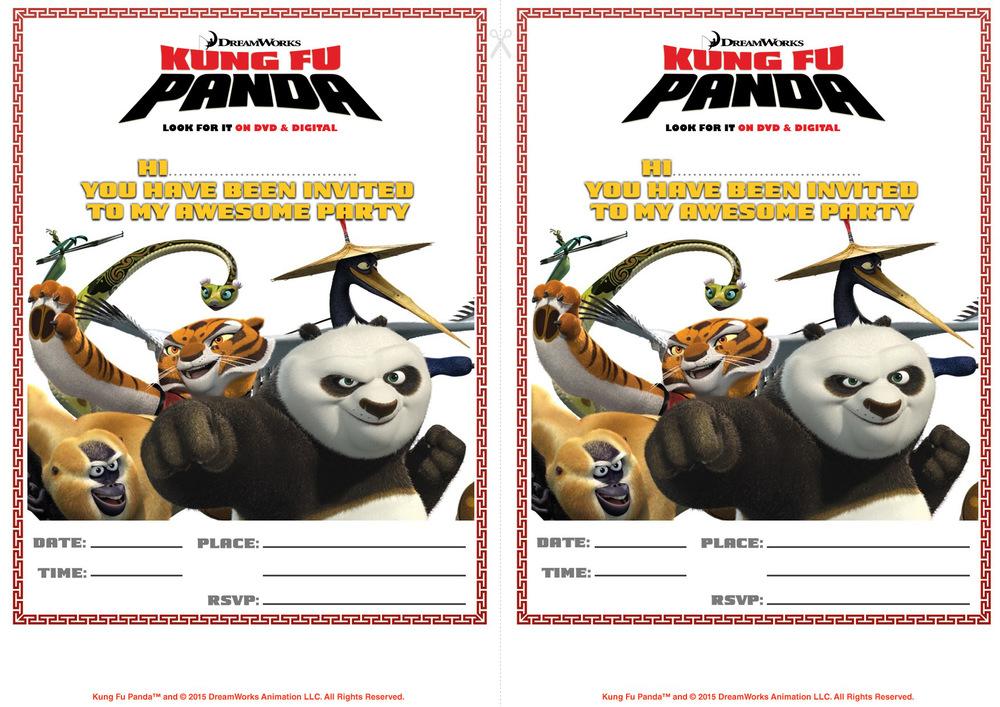 Kung Fu Panda Party #PandaParty Party Printables