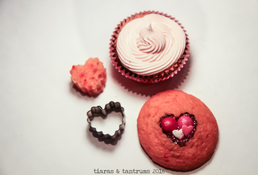 Heart Cut-Out Cupcakes for Valentine's Day #SendSweetness