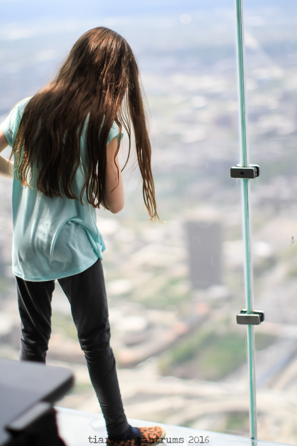 Tweens on the Ledge at the Willis Tower Skydeck