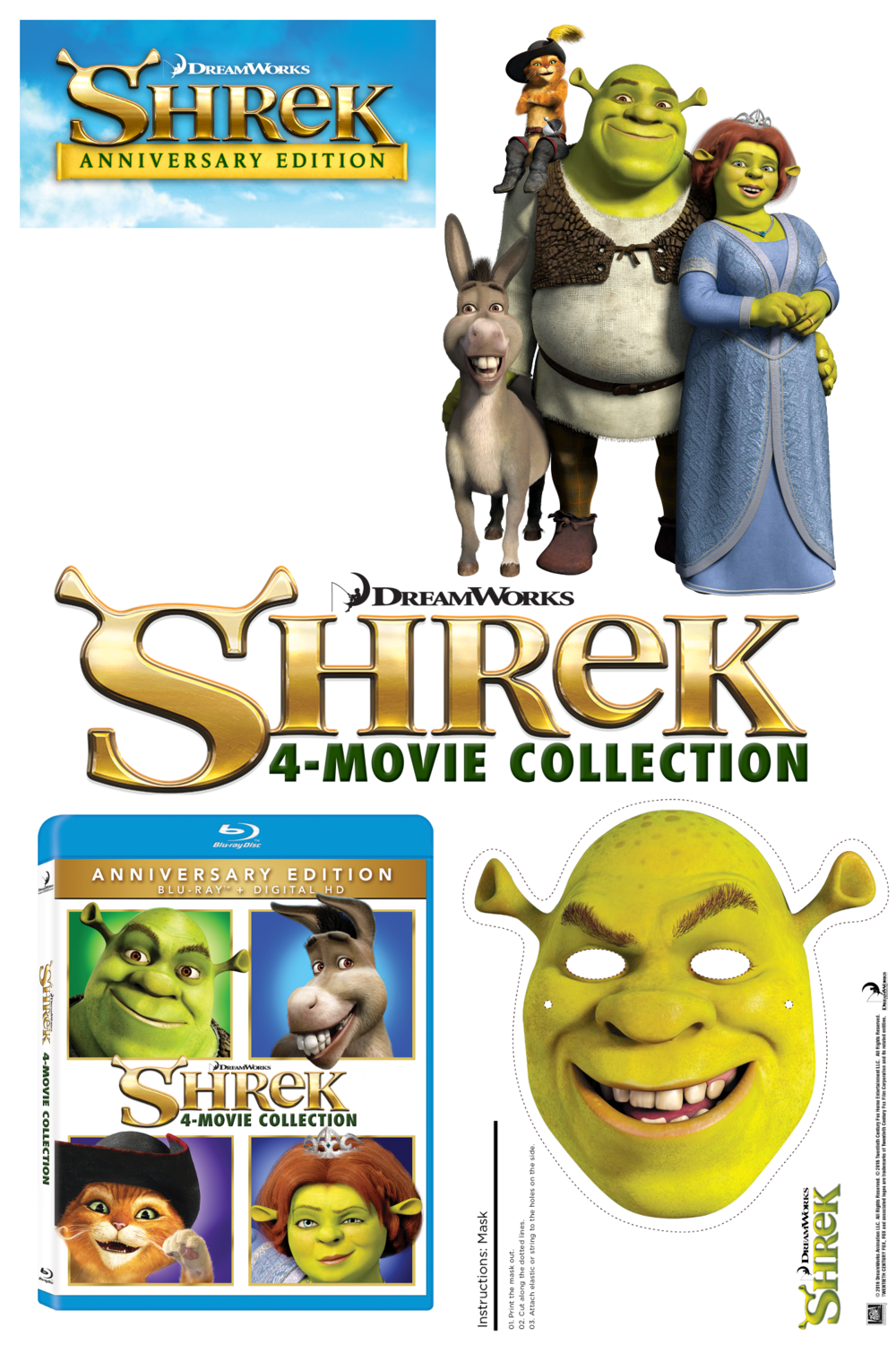 SHREK 15TH ANNIVERSARY {Giveaway} #Shrek15Insiders #SWAMPATHON