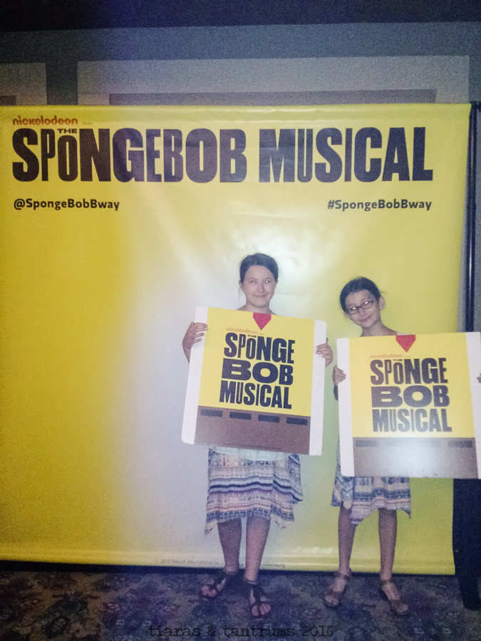 The SpongeBob Musical at the Oriental Theatre #SpongeBobBway