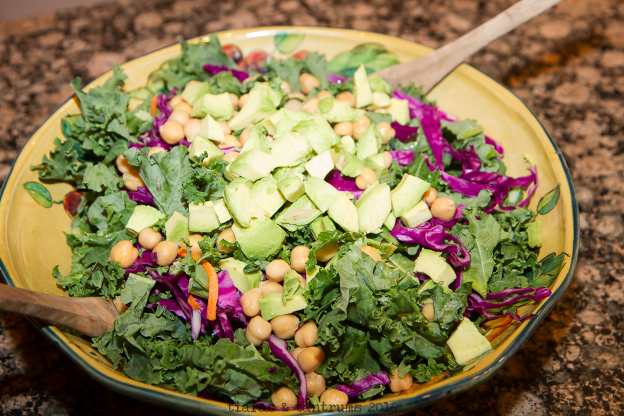 Kale Avocado Chick Pea Salad