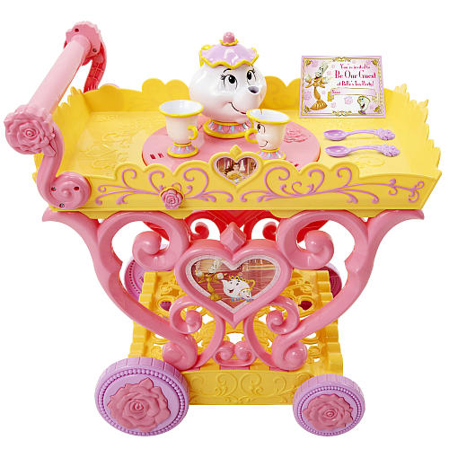 JAKKS PACIFIC'S  DISNEY PRINCESS BELLE MUSICAL TEA PARTY CART: