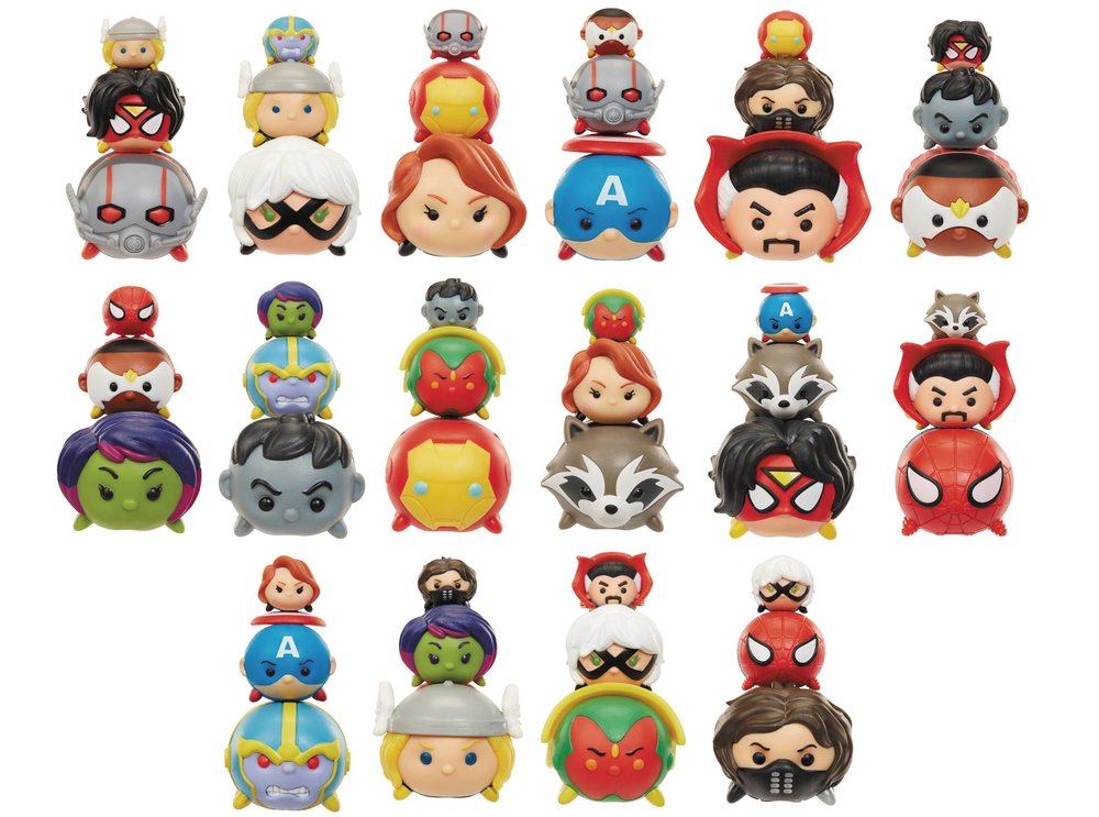 JAKKS PACIFIC'S TSUM TSUM MARVEL COLLECTIBLE FIGURES: