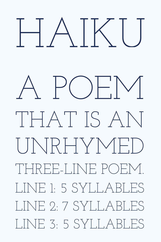 Writing Poetry Haiku