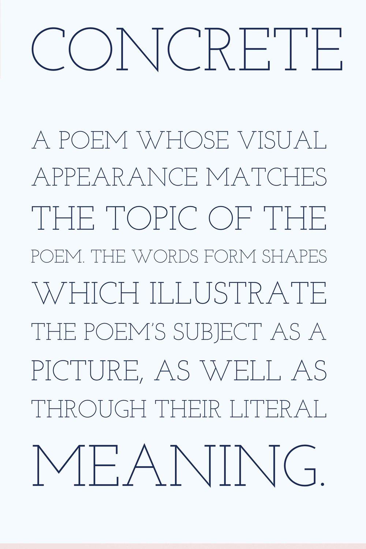 Writing Poetry Concrete