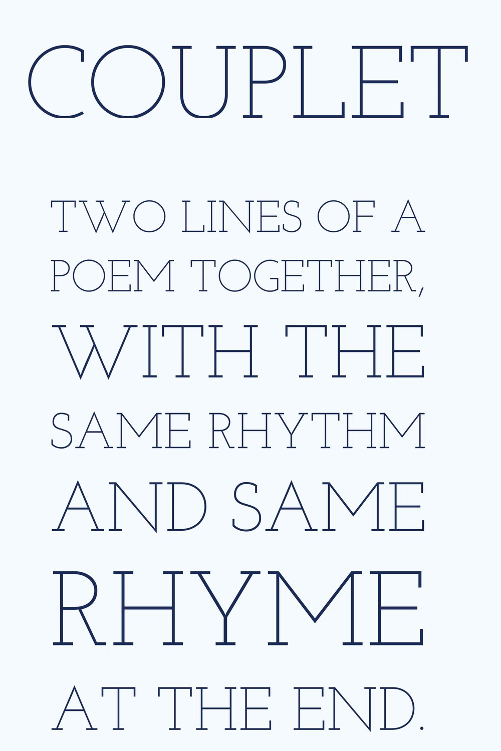 Writing Poetry Couplet