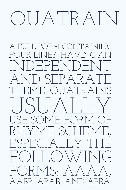 Writing Poetry Quatrain