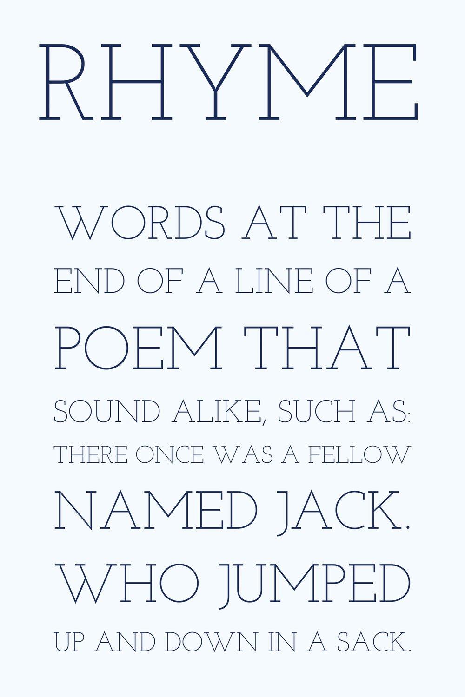 Writing Poetry Rhyme