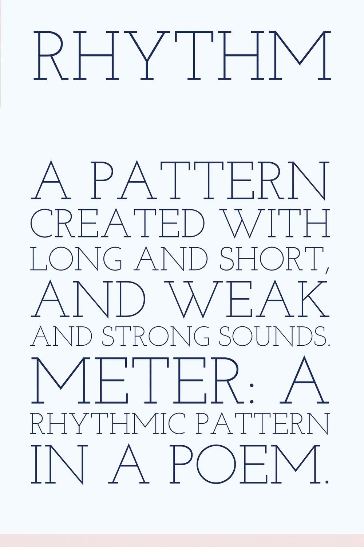 Writing Poetry Rhythm