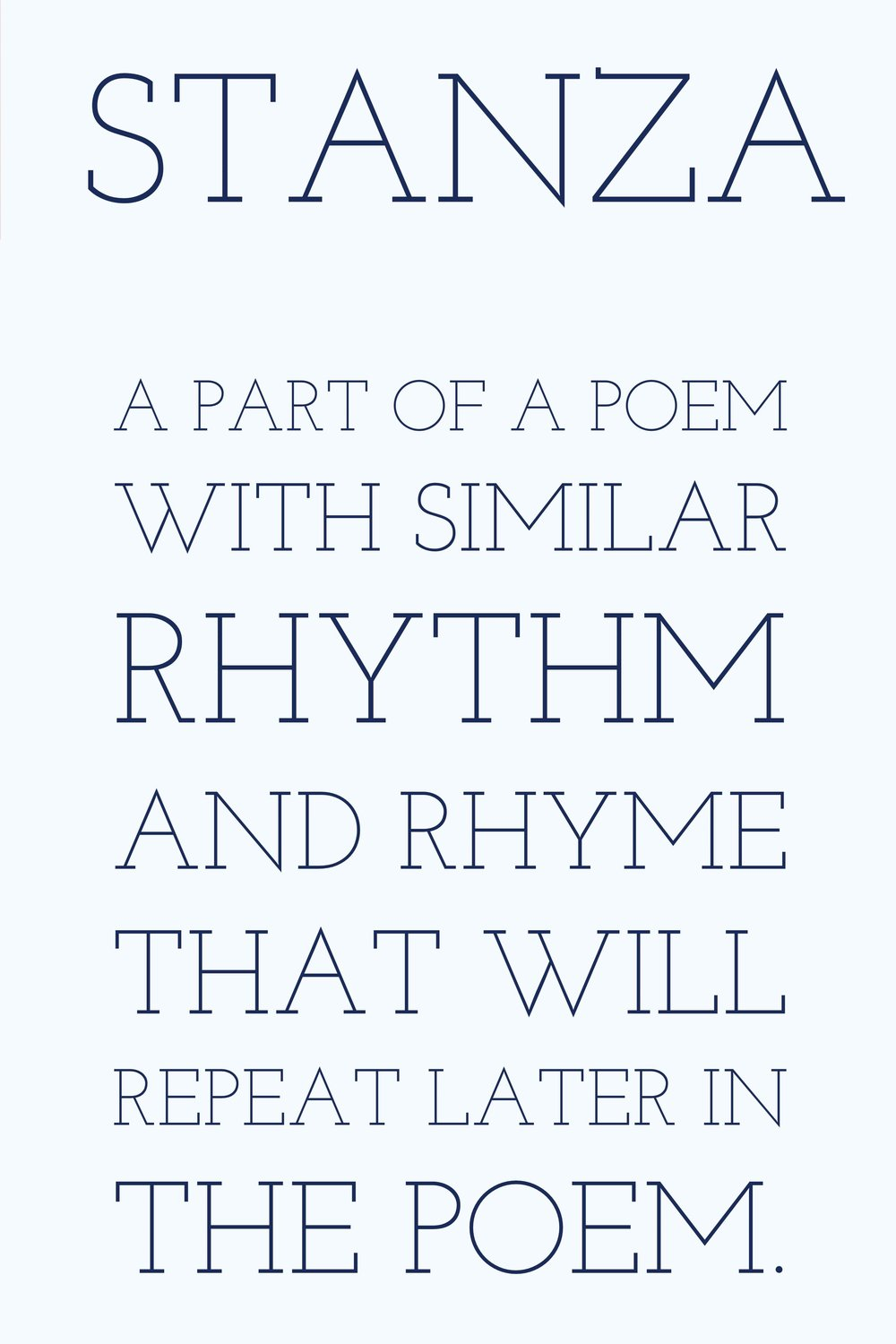 Writing Poetry Stanza