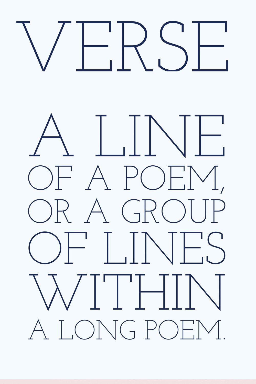 Writing Poetry Verse