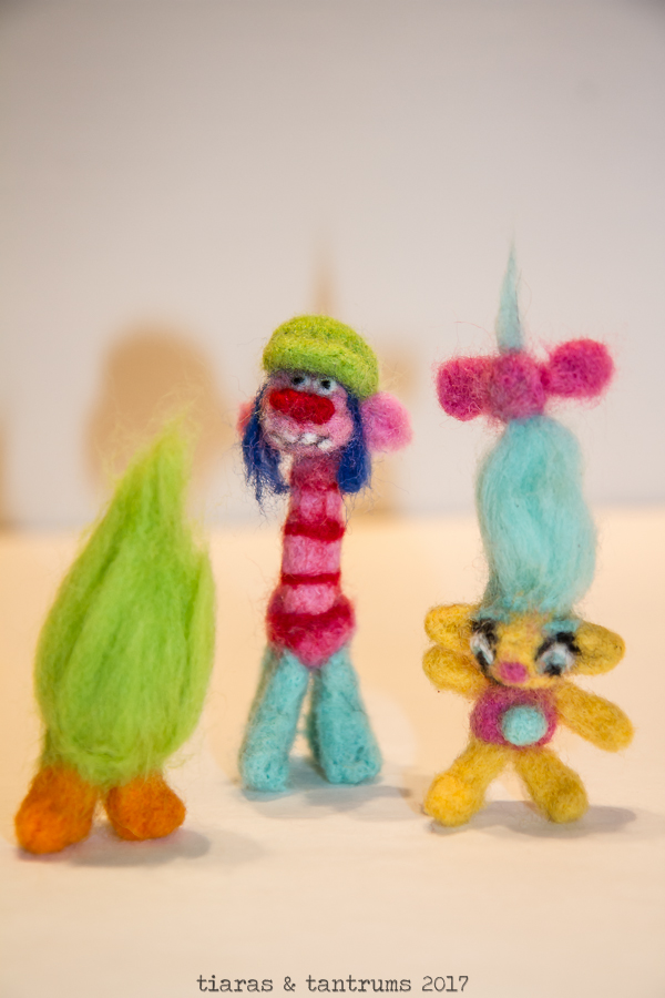 TROLLS Felted Troll Characters Tiaras & Tantrums