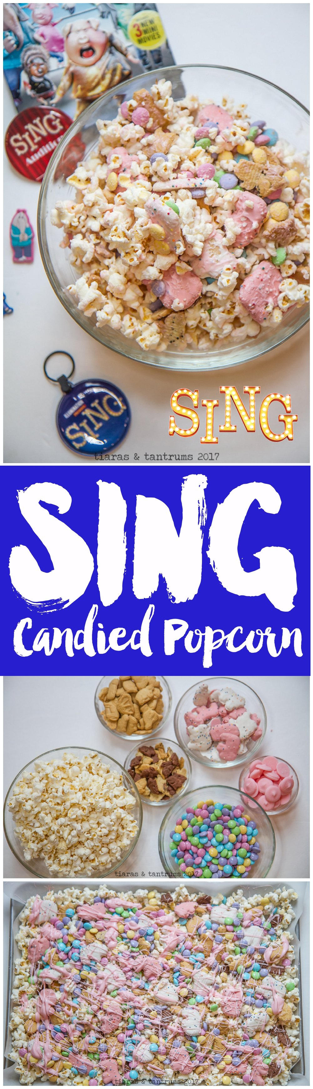 SING Candied Popcorn Tiaras & Tantrums