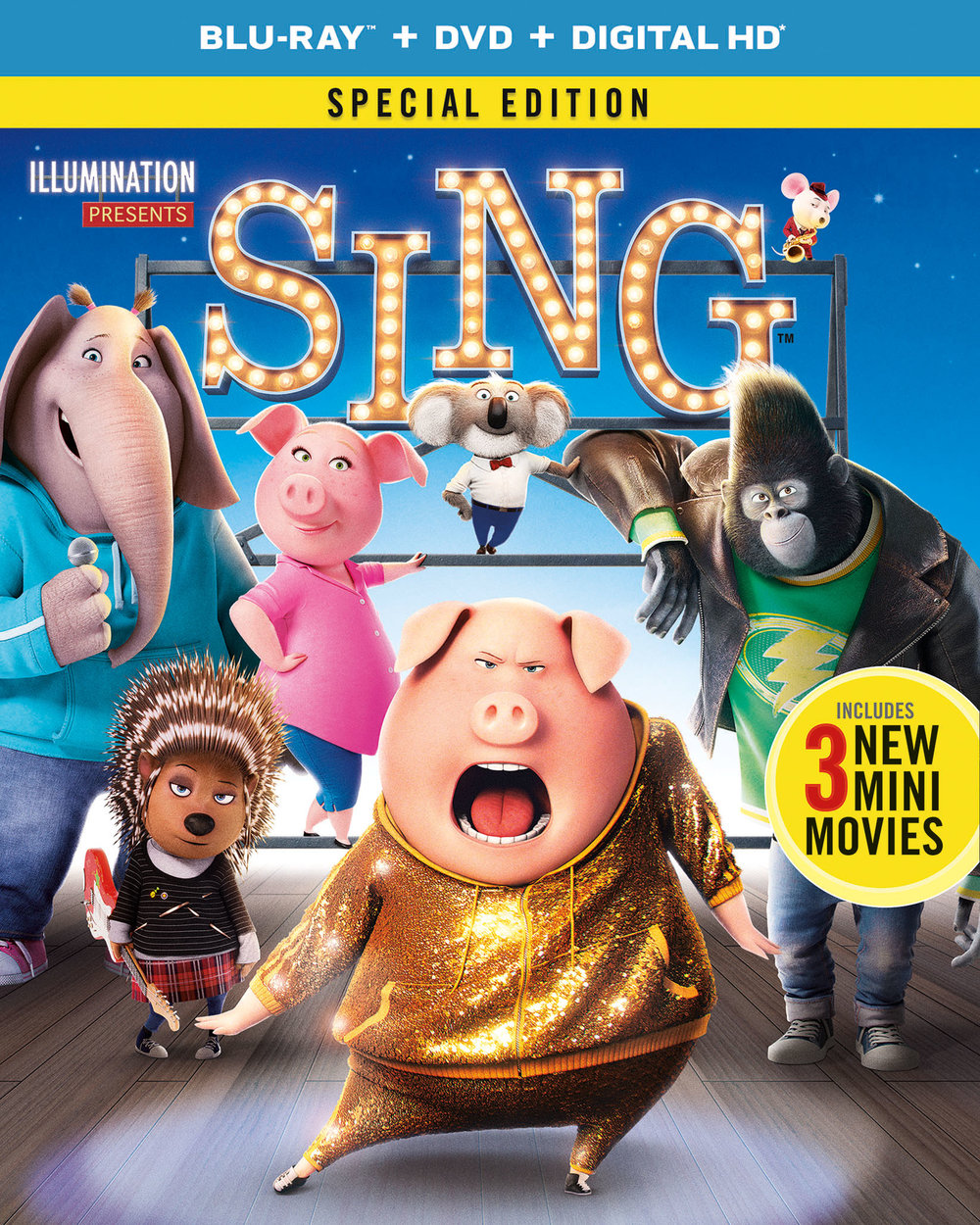 SING Blu-Ray DVD | Giveaway Tiaras & Tantrums