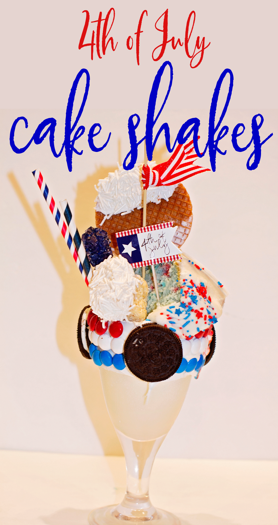 4th of July American Cake Shakes