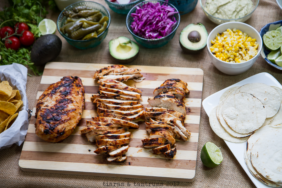 Grilled Chicken Chipotle Street Tacos with Chipotle Avocado Crema #RediscoverLaMorena #VivaLaMorena