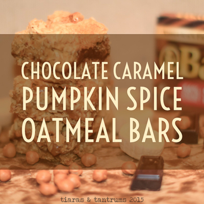 Chocolate Caramel Pumpkin Spice  Oatmeal Bars