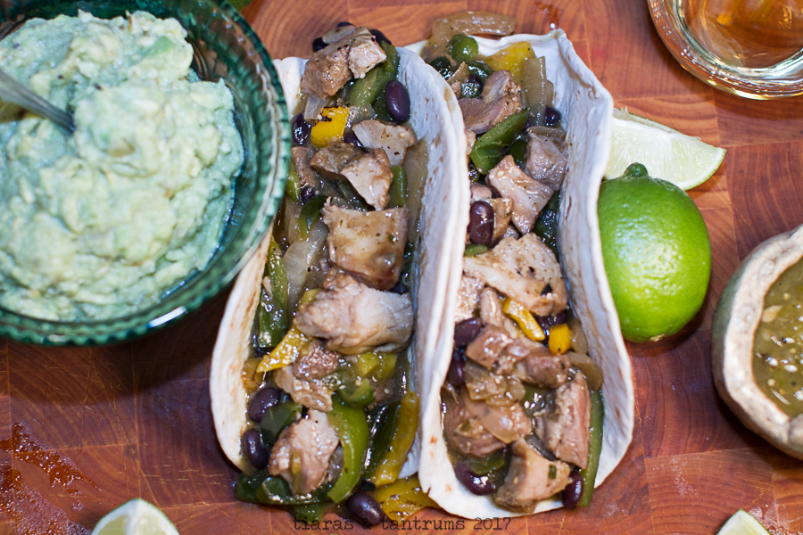 Carnitas and Veggie Taco Skillets with Guacamole #FronteraExperience
