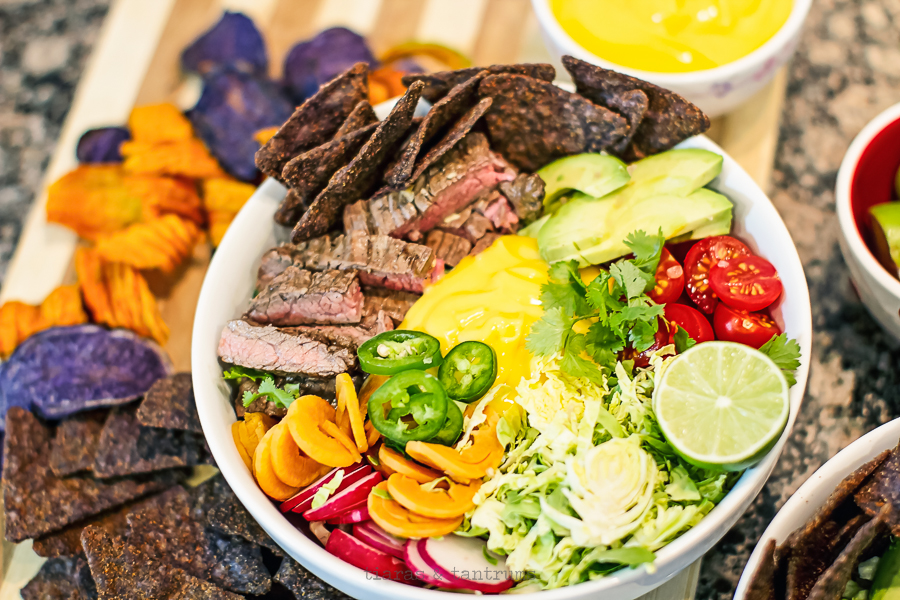 Steak Nachos Salad Bowl #RicosCheesePlease