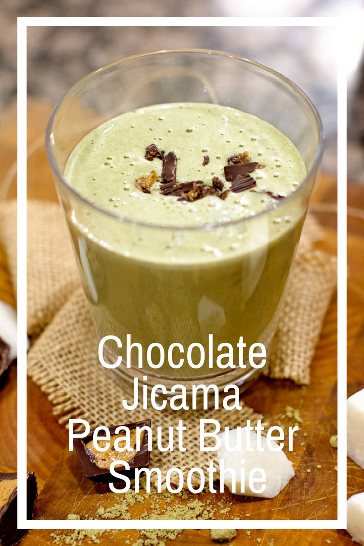 Chocolate Jicama Peanut Butter Smoothie