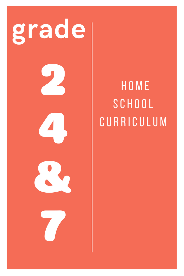 Homeschool Curriculum Grade 2 4 & 7