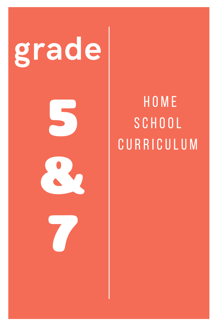 Home School Curriculum Grade 5 & 7