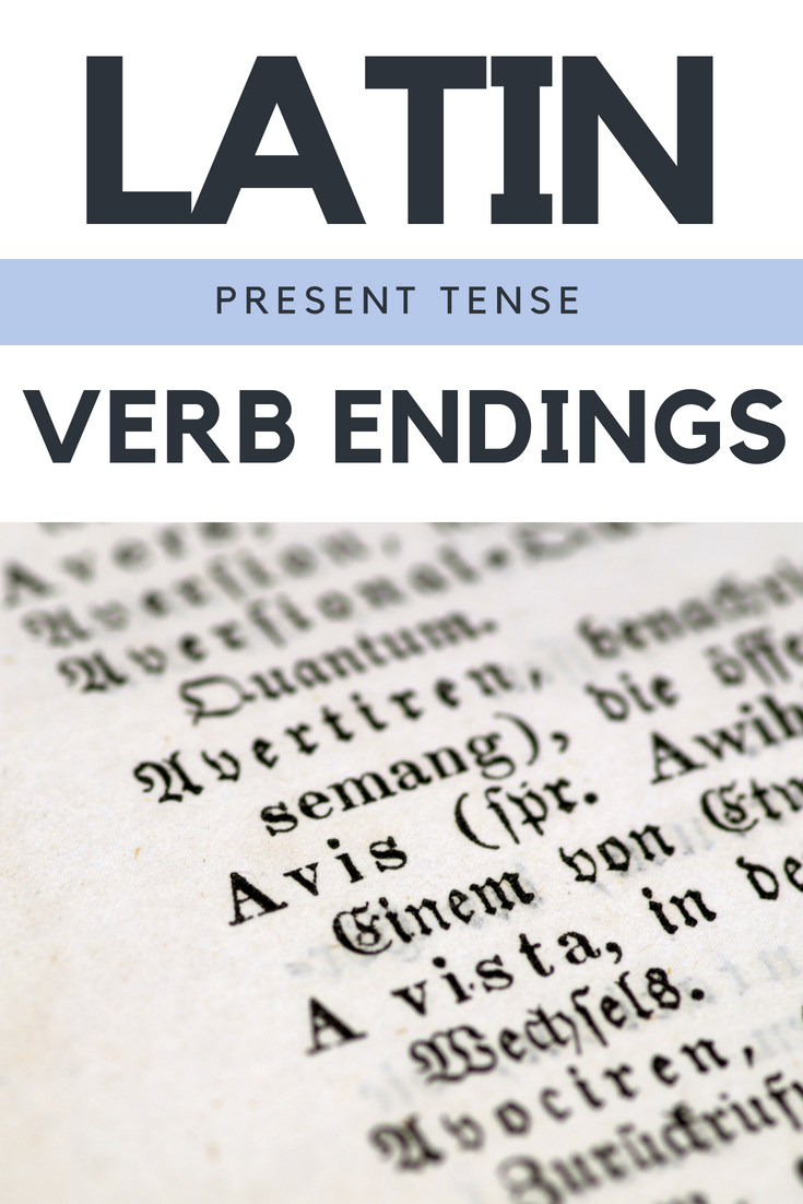 Latin Present Tense Verb Endings Chant