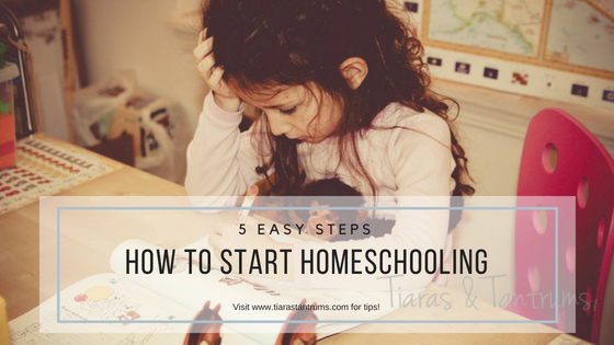 5 Easy Tips How To Start Homeschooling