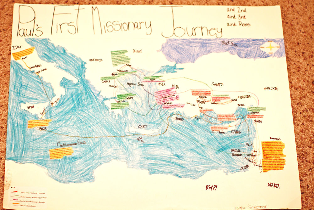 Missionary Map Project | Paul's Second Missionary Journey